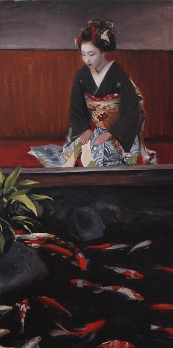 """Kaburenjo Koi"" original fine art by Phil Couture"
