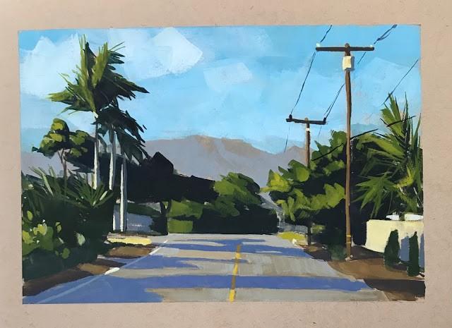 """The Way Home - gouache"" original fine art by Sharon Schock"