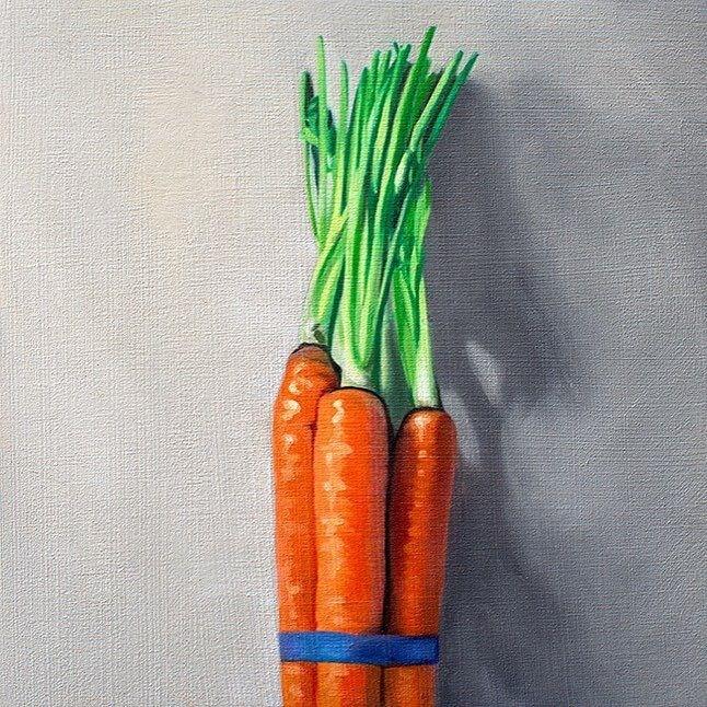 """""""Bunch of Carrots"""" original fine art by Lauren Pretorius"""