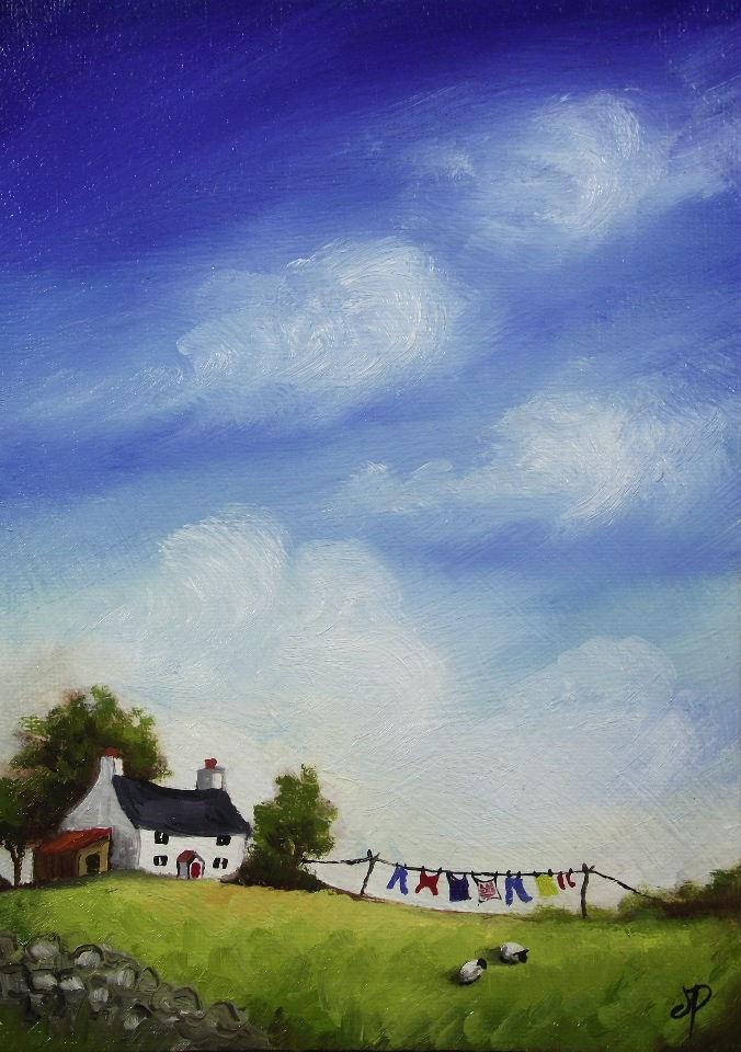 """Washing day #2"" original fine art by Jane Palmer"