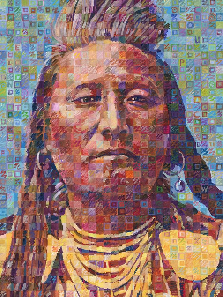 """""""Plenty Coups Of The Crow Nation"""" original fine art by Randal Huiskens"""