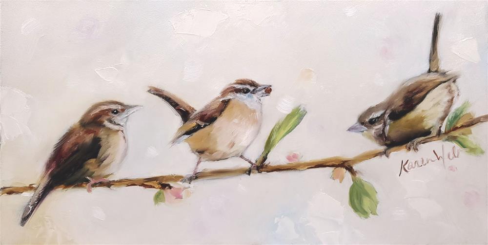 """""""Three Little Kings"""" original fine art by Karen Weber"""