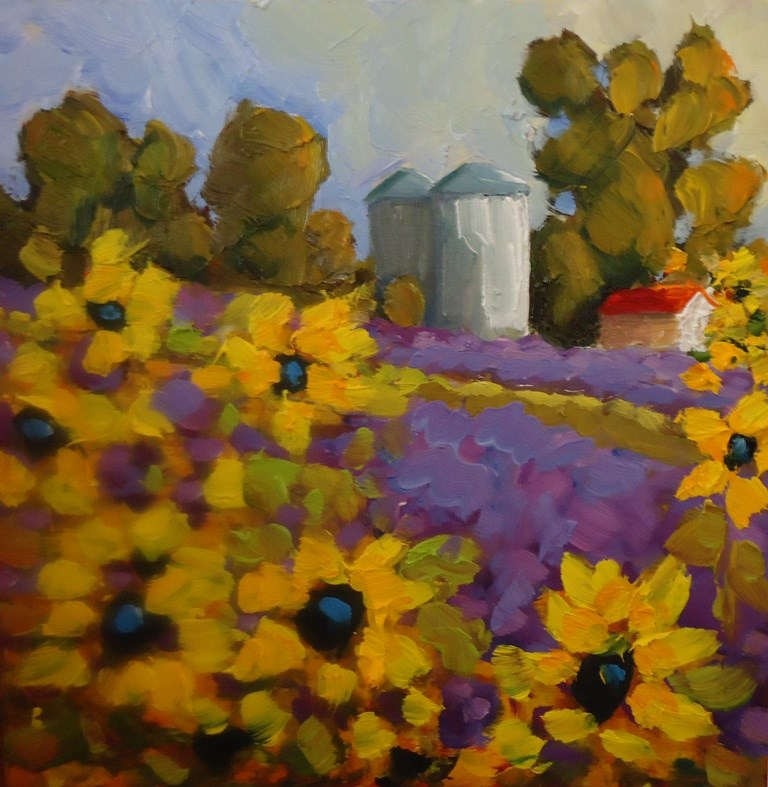 """110 SUMMER LAVENDER AT LOS POBLANOS"" original fine art by Dee Sanchez"