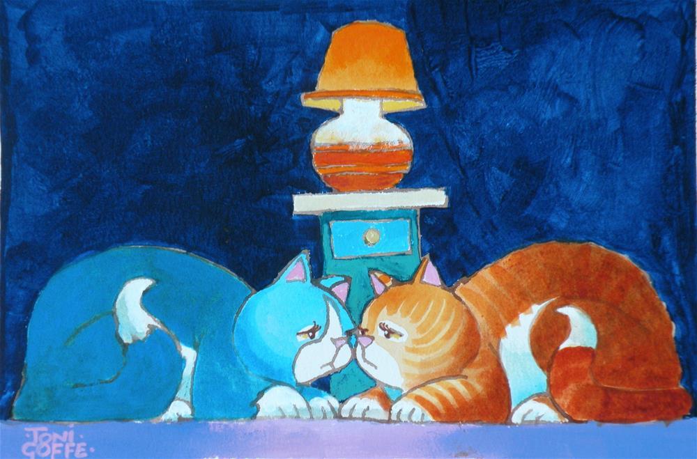 """I Keep Thinking it's Tuesday"" original fine art by Toni Goffe"