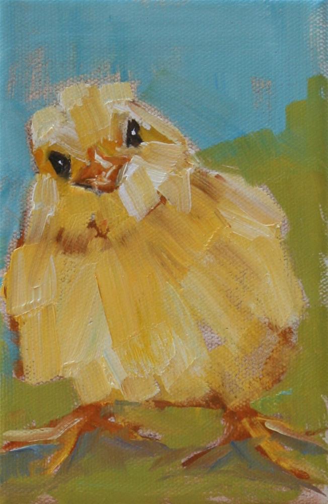 """tipsy chick"" original fine art by Carol Carmichael"