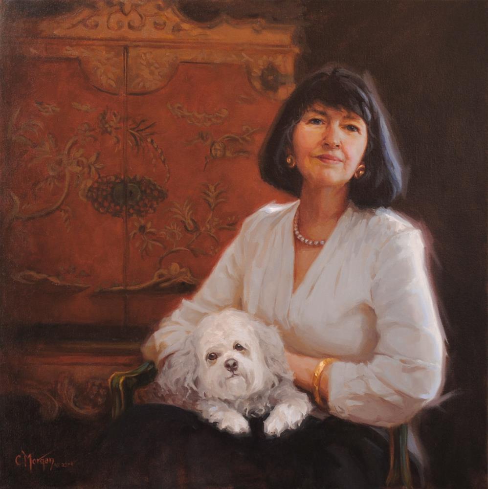 """Monteigne"" original fine art by Cecile W. Morgan"