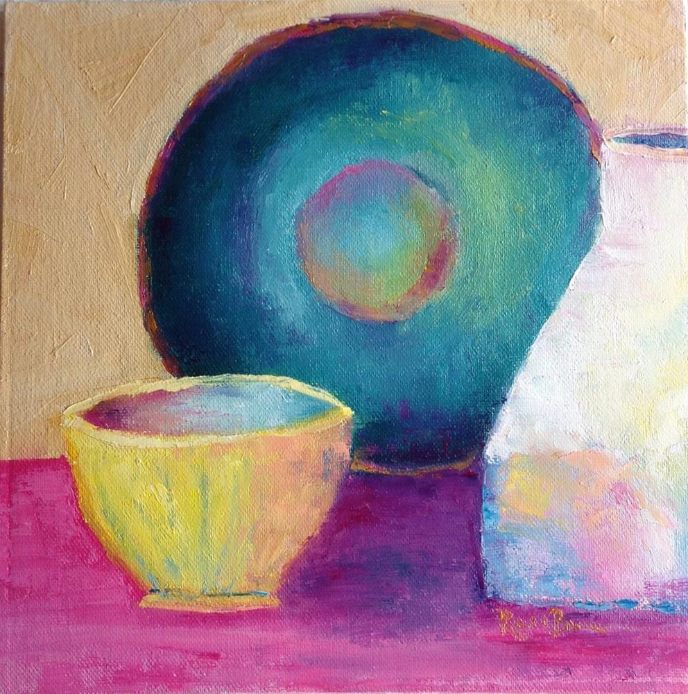 """The Table Is Set"" original fine art by Rose Brenner"