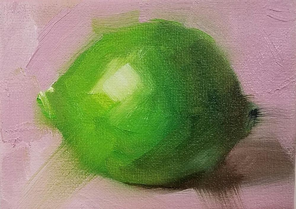 """""""Lime and Pink"""" original fine art by Cindy Haase"""