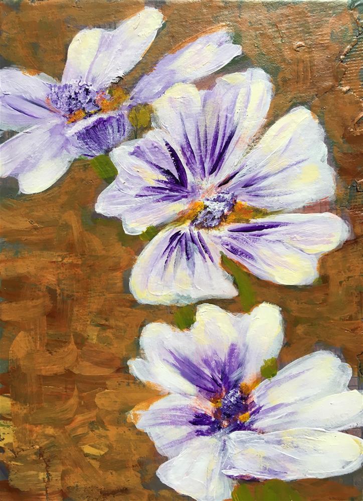 """Zebrina Malva"" original fine art by Marcia Hero"