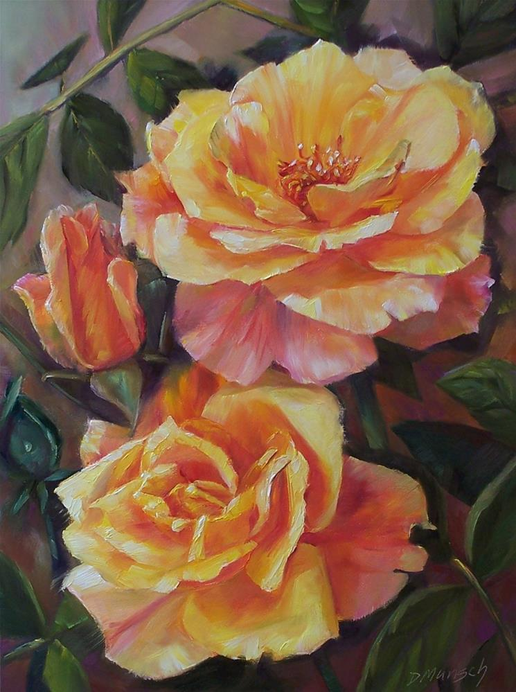 """Stack Roses"" original fine art by Donna Munsch"