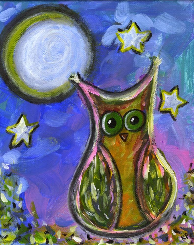"""By the Light of the Moon"" original fine art by Kali Parsons"