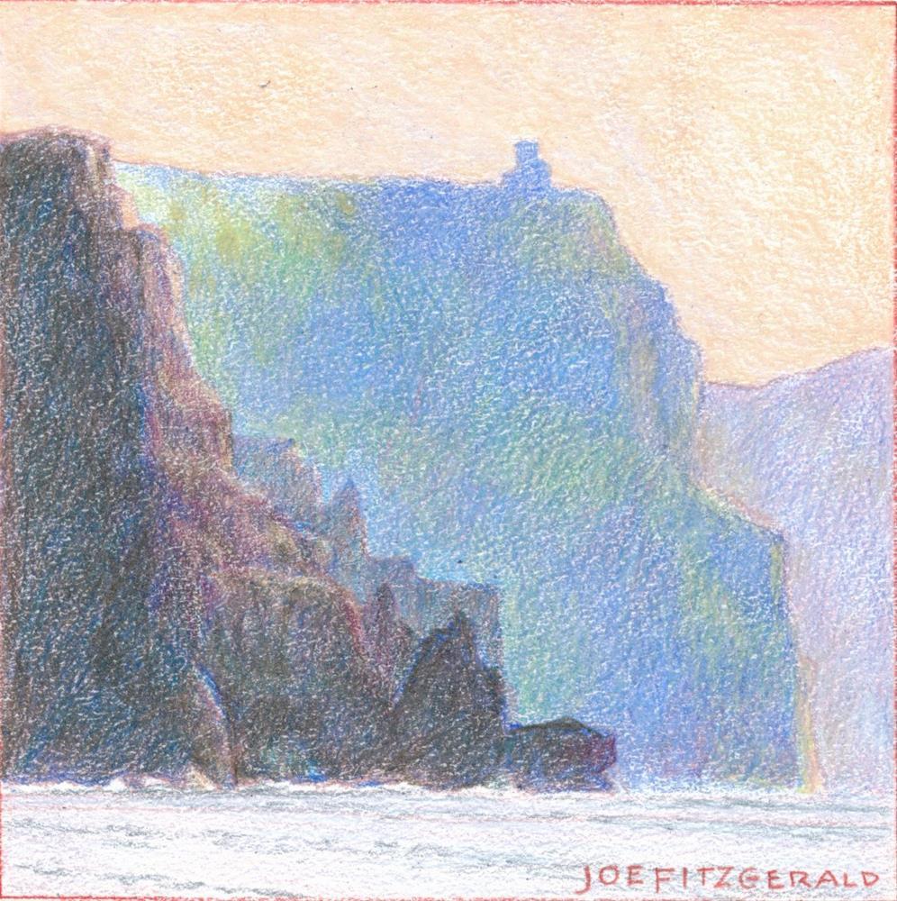 """Sailing Round Moher II"" original fine art by Joe Fitzgerald"