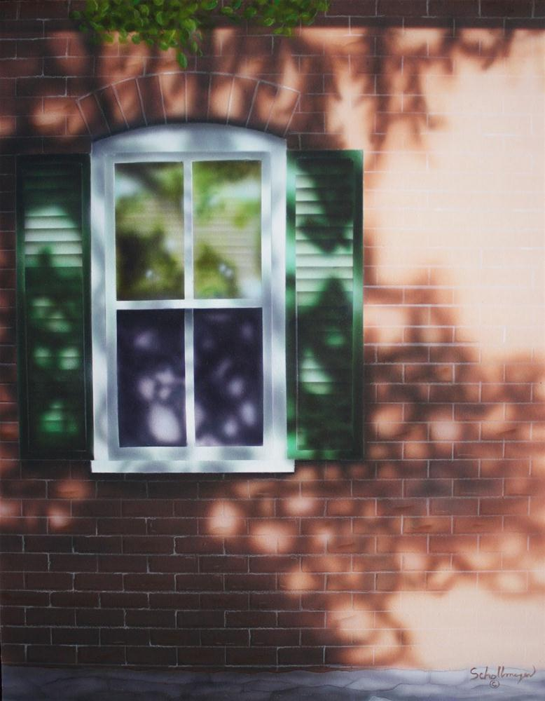 """""""Window Into Summer"""" original fine art by Fred Schollmeyer"""