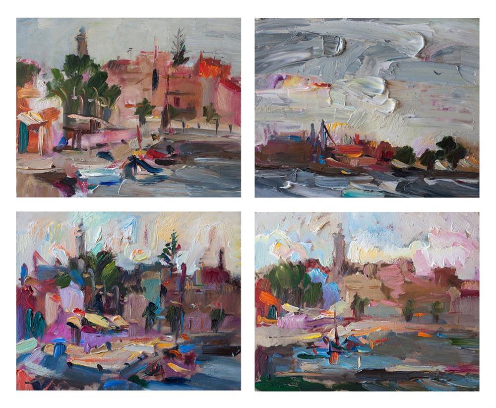 """""""Plein Air Mediterranean Landscapes"""" original fine art by Anna Fine Art"""