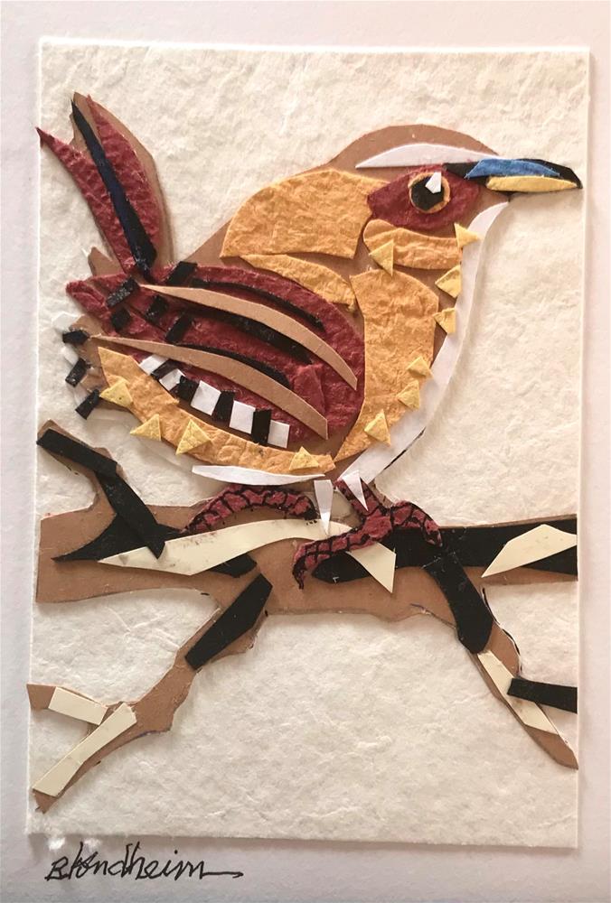 """House Wren"" original fine art by Linda Blondheim"