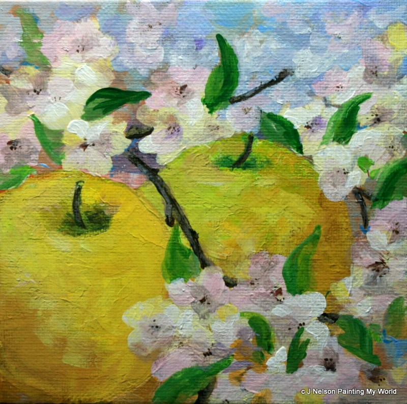 """""""Promise of Spring"""" original fine art by Jean Nelson"""