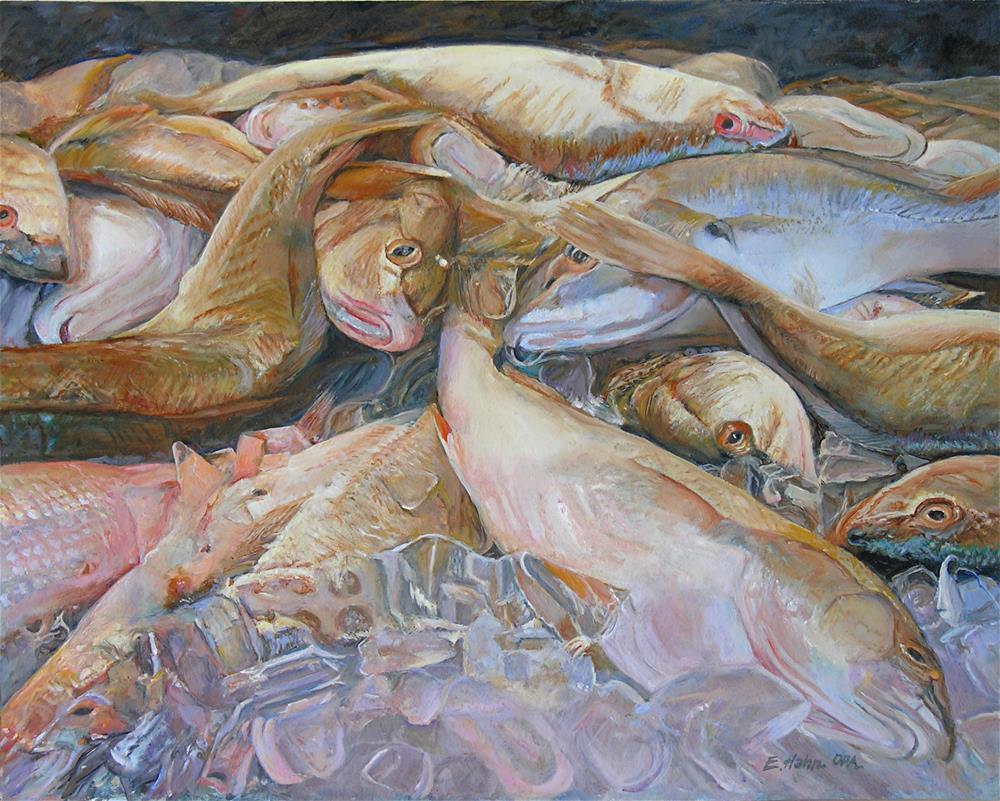 """Iced Down"" original fine art by Elaine Hahn"