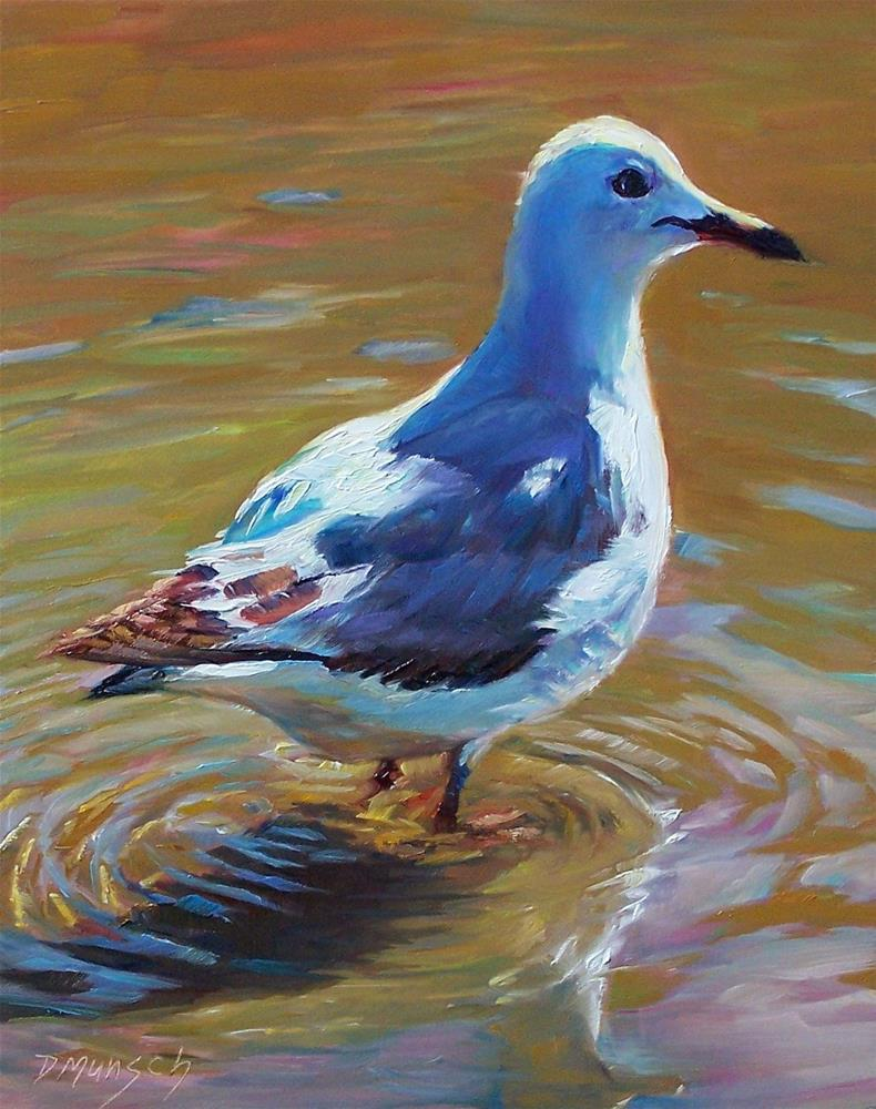 """Wading In"" original fine art by Donna Munsch"