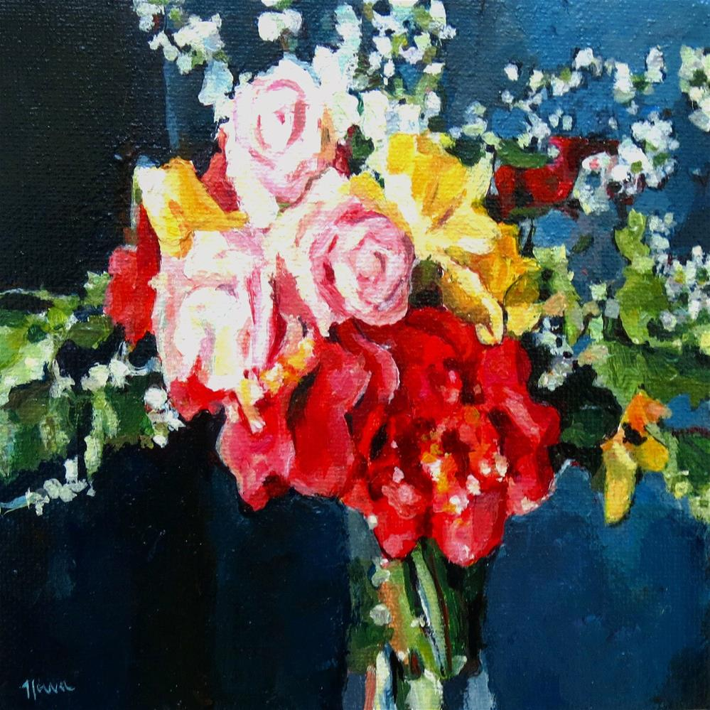 """Bouquet for You"" original fine art by Nava Judith"