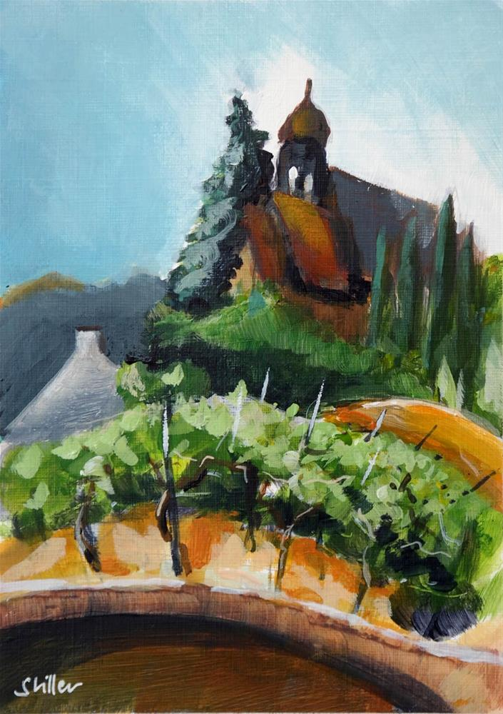 """2109 Winery Church in acrylics"" original fine art by Dietmar Stiller"