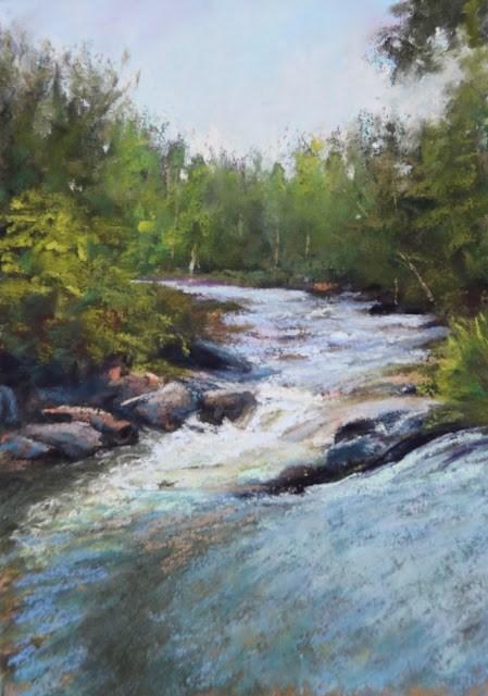 """Singing Waters"" original fine art by Sharon Lewis"