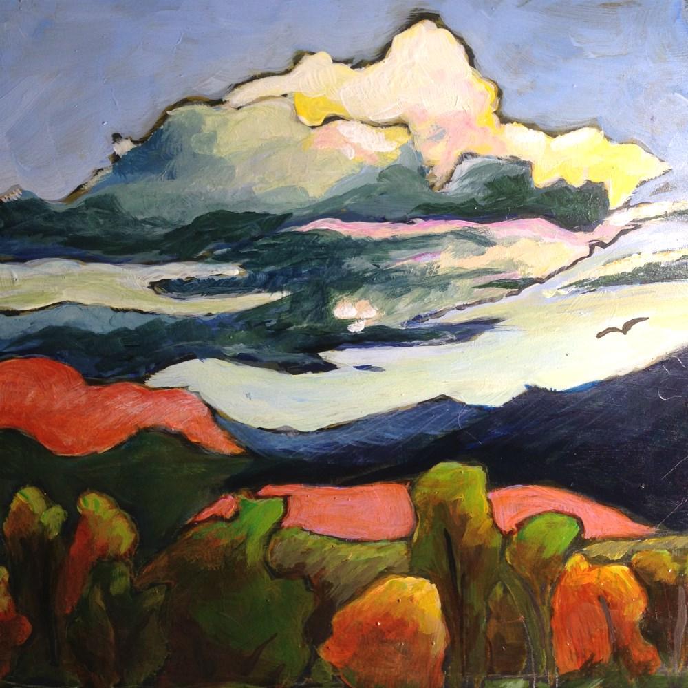 """Teton Sky"" original fine art by Colleen OHair"