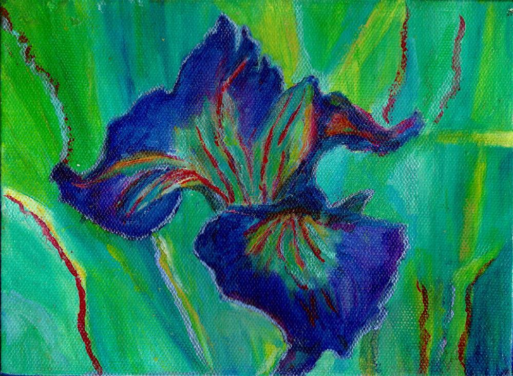 """Purple Delight"" original fine art by Elizabeth Current"