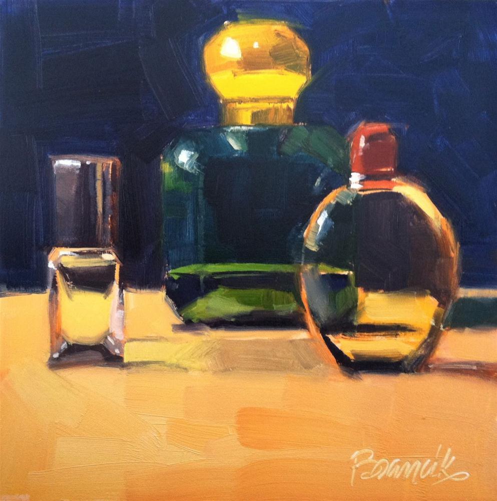 """Cologne Bottles"" original fine art by Candace Brancik"