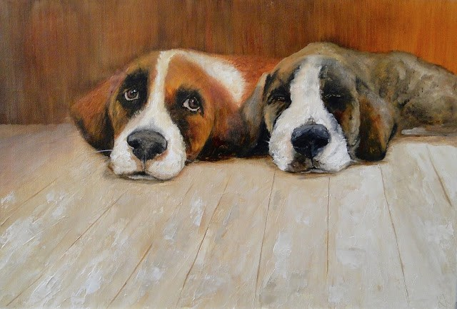 """Double Trouble"" original fine art by Karen Robinson"