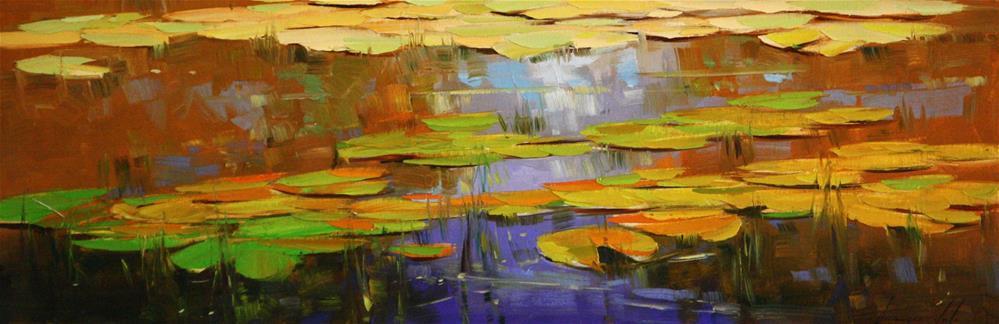 """Waterlilies"" original fine art by V Y"