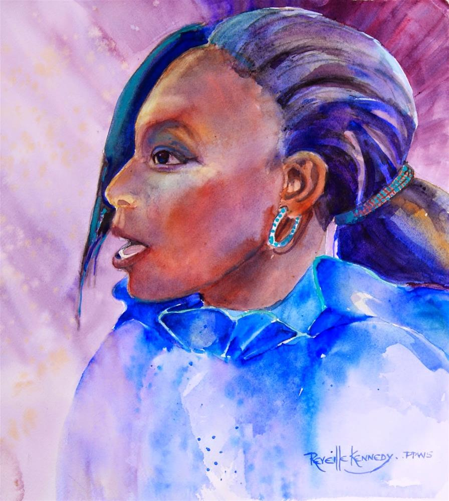 """A Strong Voice"" original fine art by Reveille Kennedy"