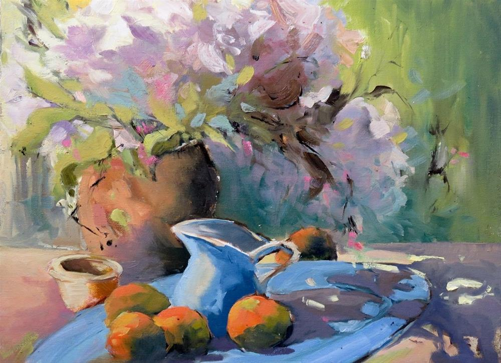 """Still Life with Tangerines"" original fine art by Christa Friedl"