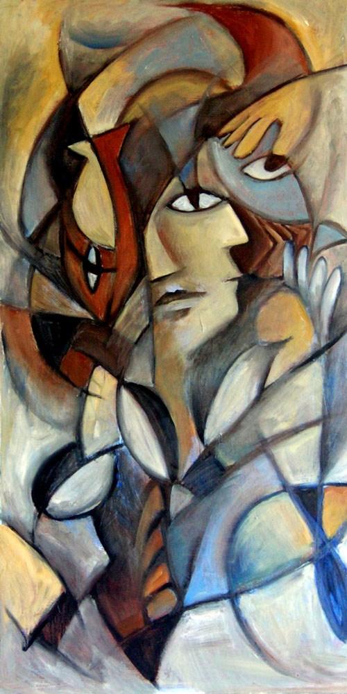 """Man Dreaming"" original fine art by Valerie Vescovi"