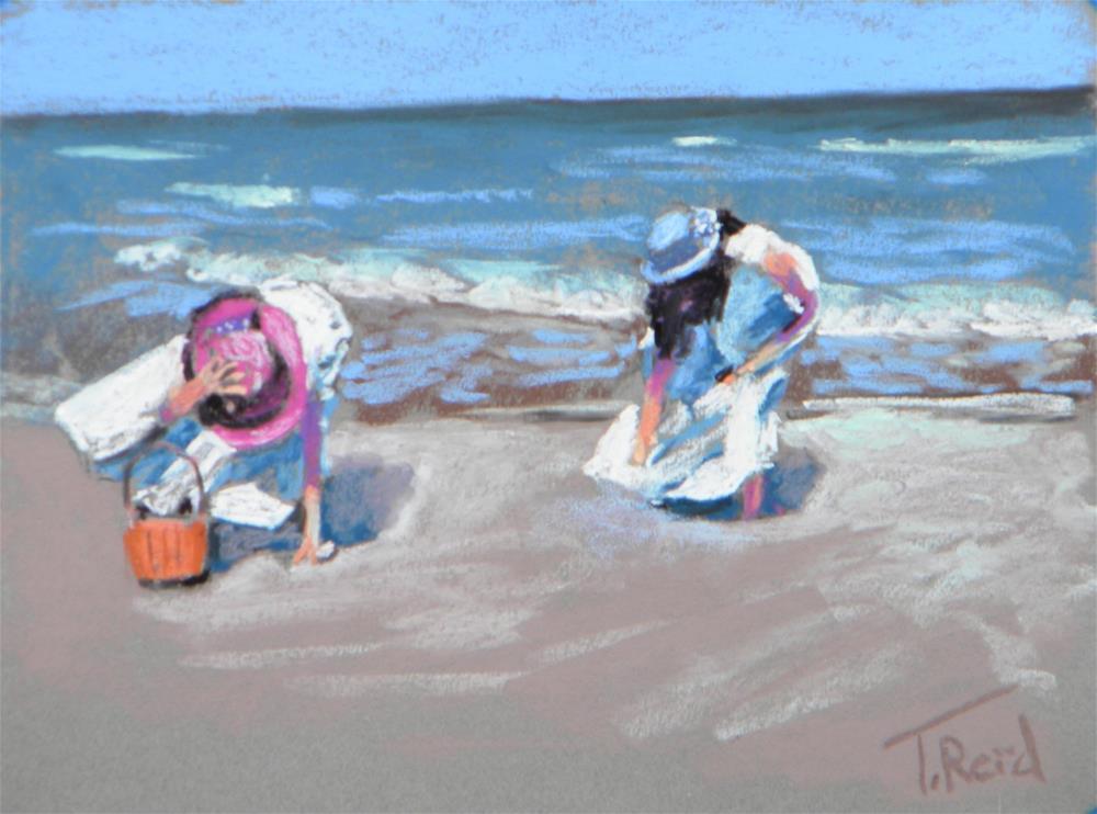 """""""Windy Beach Morning"""" original fine art by Toby Reid"""