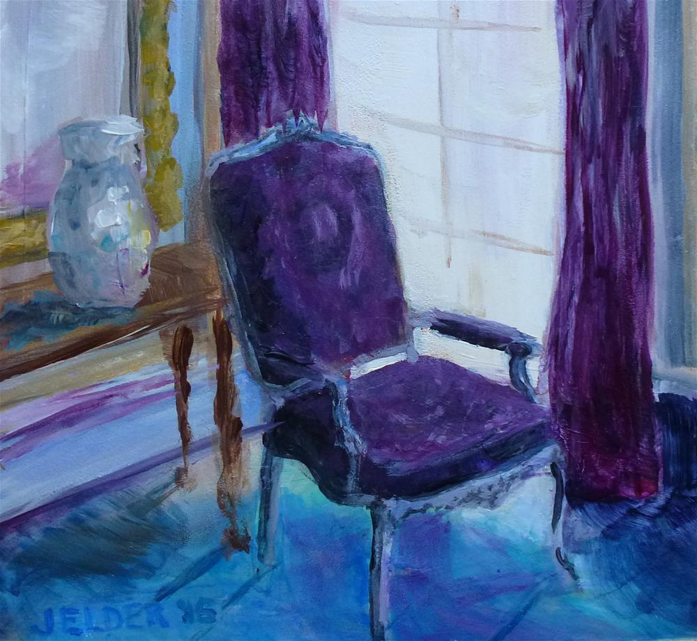 """Chair"" original fine art by Judith Elder"