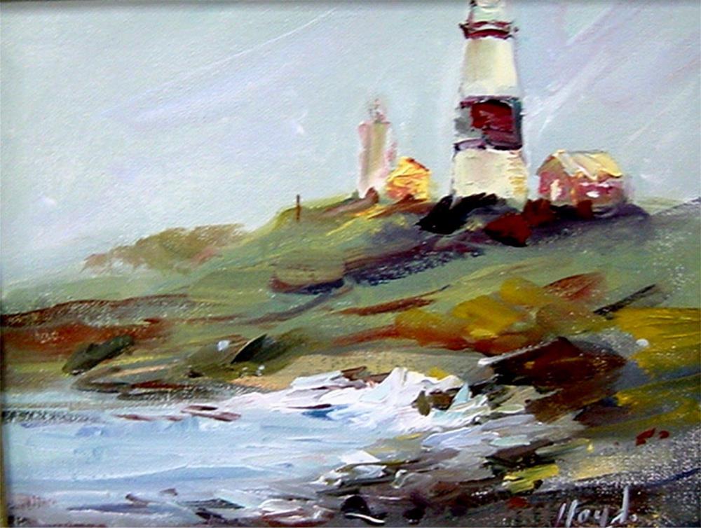 """Lighthouse at Montauk Point"" original fine art by Diane Lloyd"