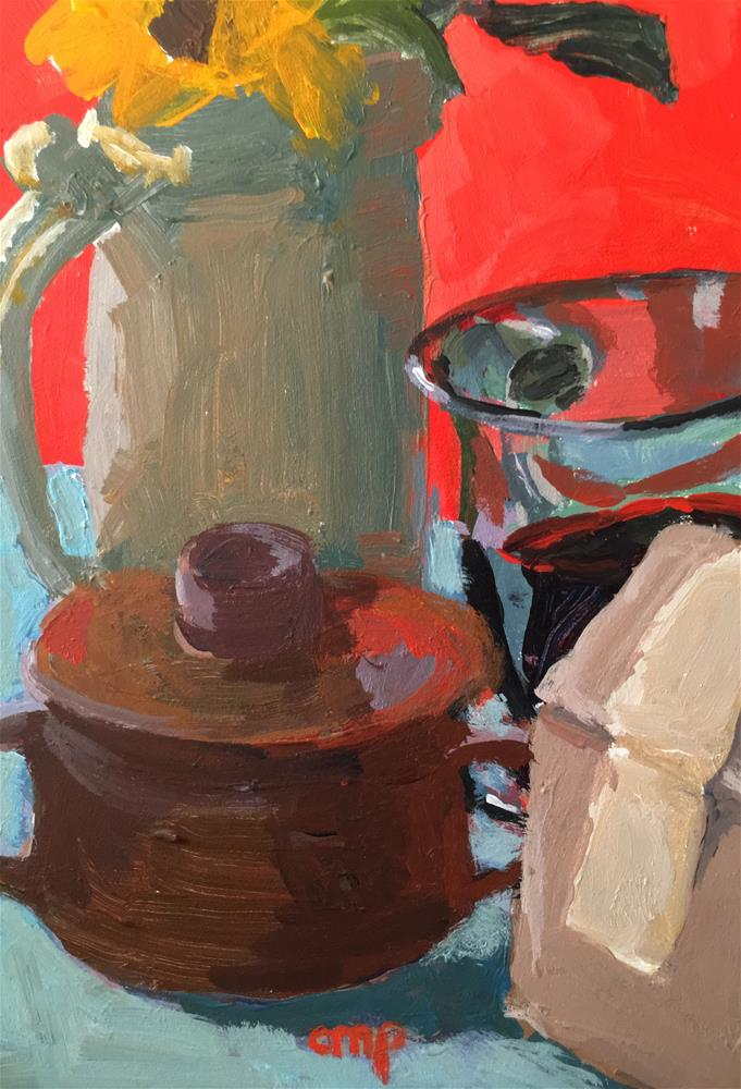 """Still Life #4 Coffee Series"" original fine art by Christine Parker"
