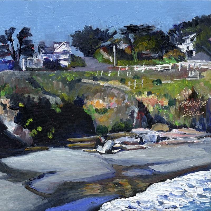 """Portuguese Beach"" original fine art by Mariko Irie"