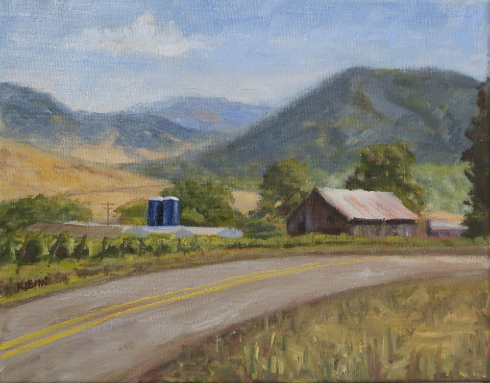 """Norris' Blueberry Farm"" original fine art by Richard Kiehn"