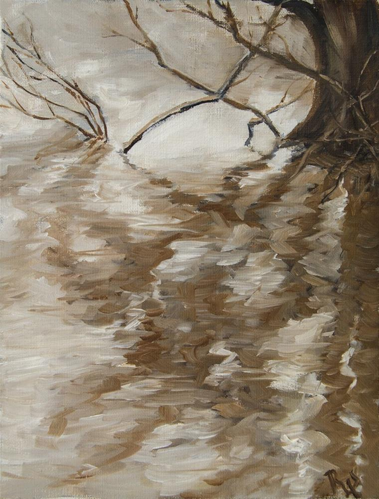 """""""3. Tree Tangle and Reflection"""" original fine art by Rachel Steely"""