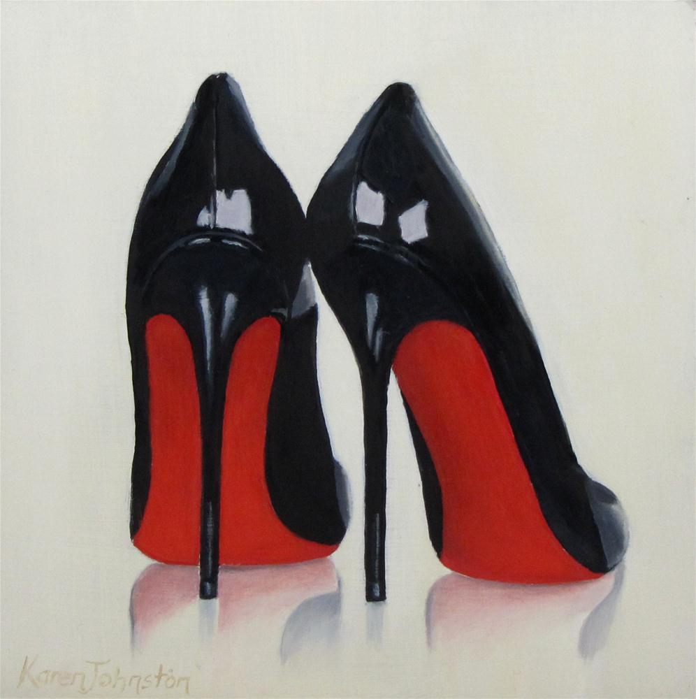 """""""Fashion Heels"""" original fine art by Karen Johnston"""