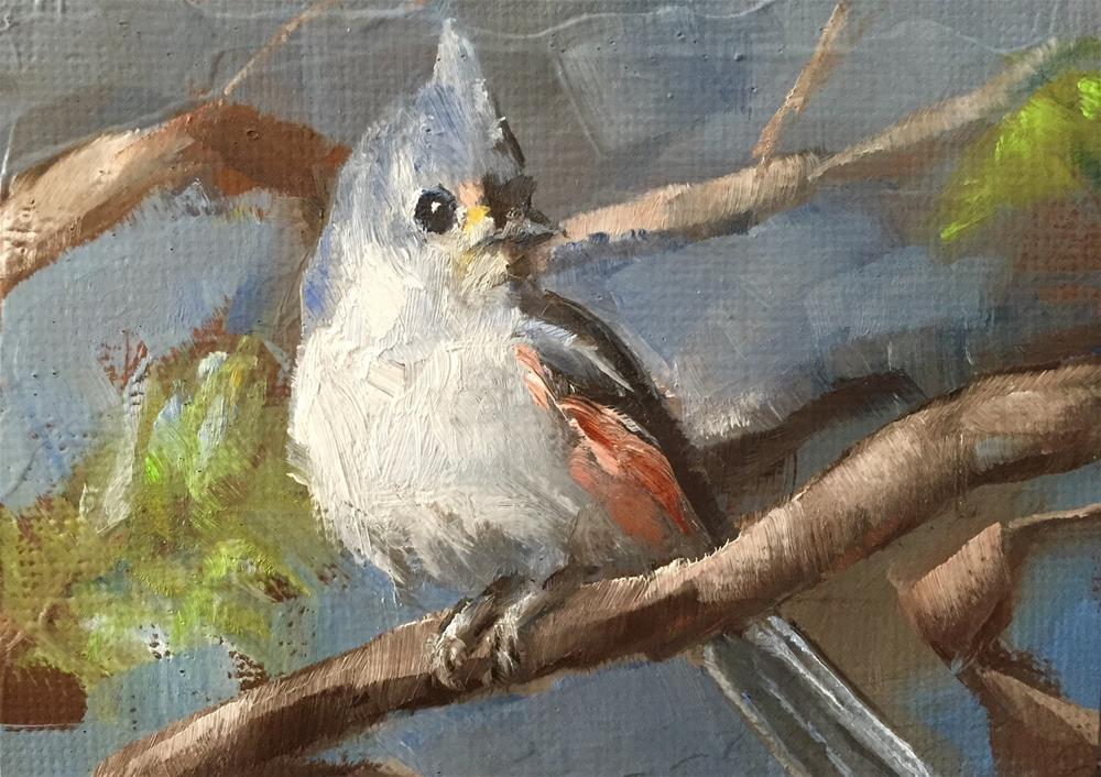 """Titmouse"" original fine art by Gary Bruton"