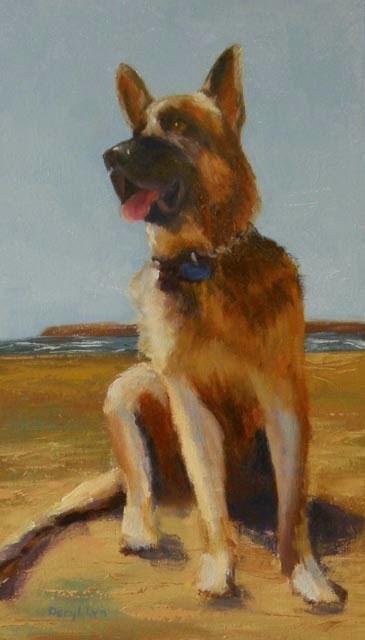 """""""Wrigley - Dog #17"""" original fine art by Daryl Lyn King"""