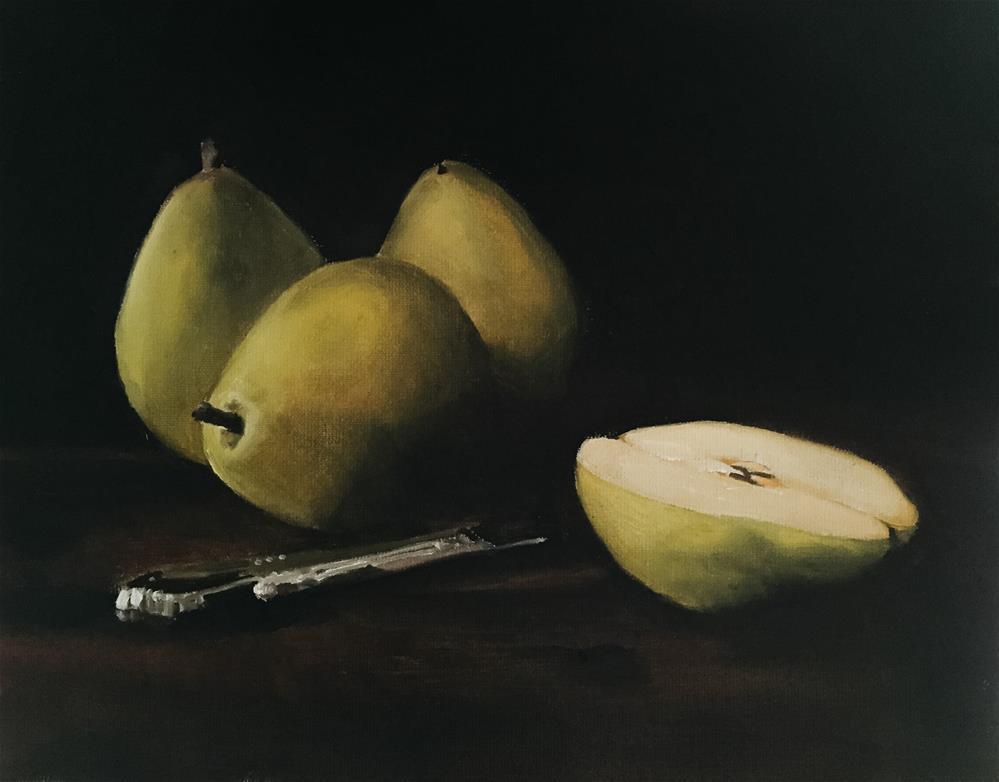 """Pears"" original fine art by James Coates"