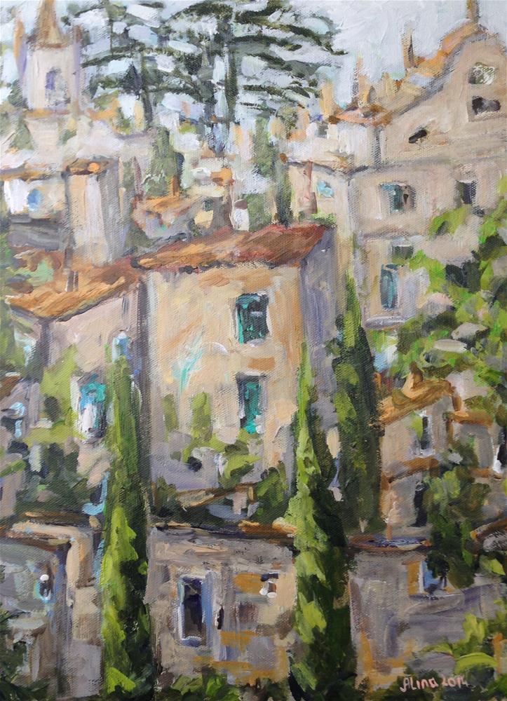 """Provence Village"" original fine art by Alina Vidulescu"