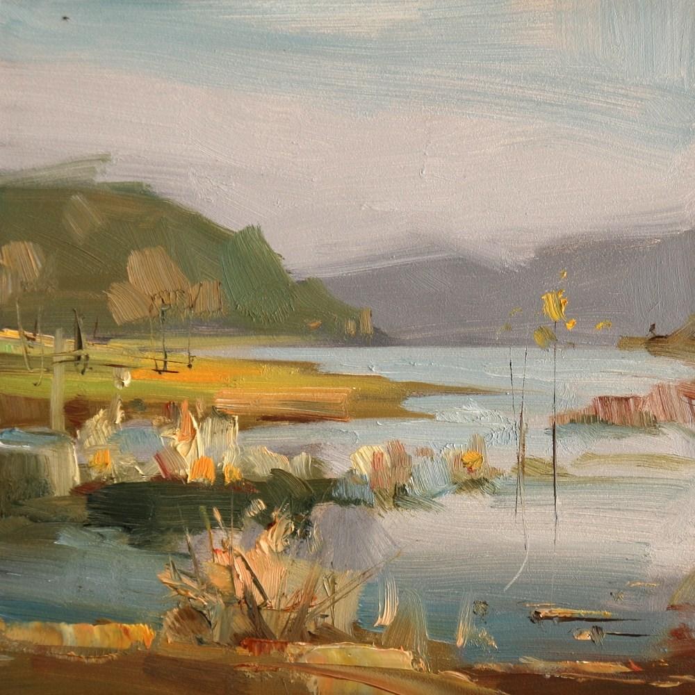 """Cypress Creek Park 5"" original fine art by Qiang Huang"