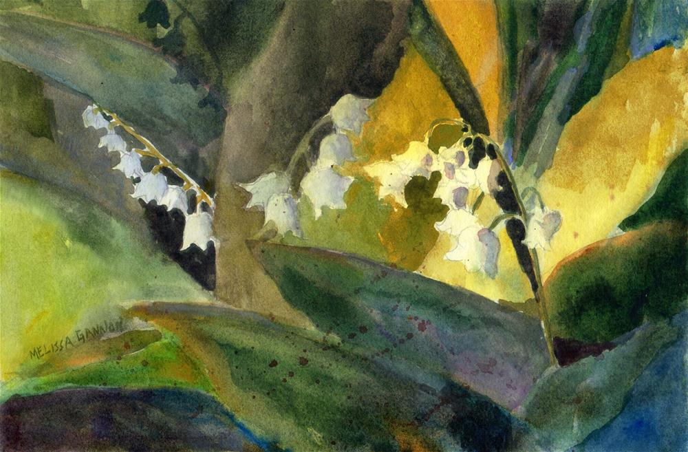 """""""Lily of the Valley"""" original fine art by Melissa Gannon"""