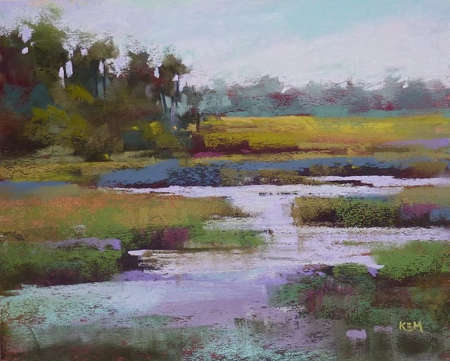 """Mini Pastel Demo: Adding Water to a Boring Painting"" original fine art by Karen Margulis"