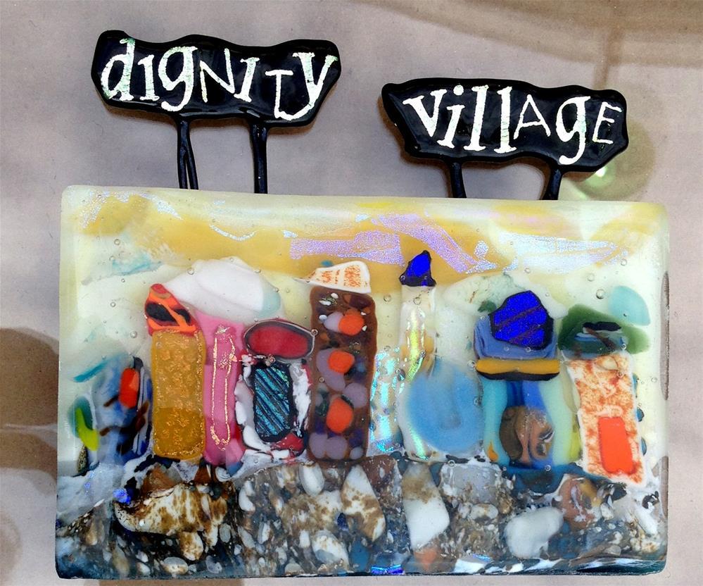 """Dignity Village"" original fine art by Kristen Dukat"