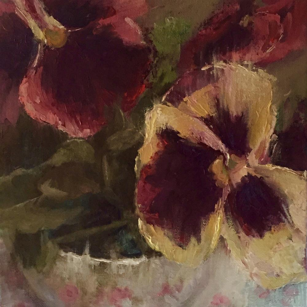 """Sweet Pansies"" original fine art by Sherri Burritt"
